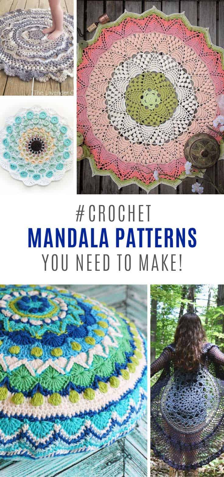 These mandala crochet patterns are just beautiful!