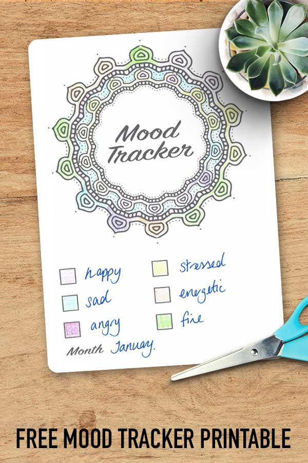 Monitor your emotions with this free mood tracker bullet journal printable!
