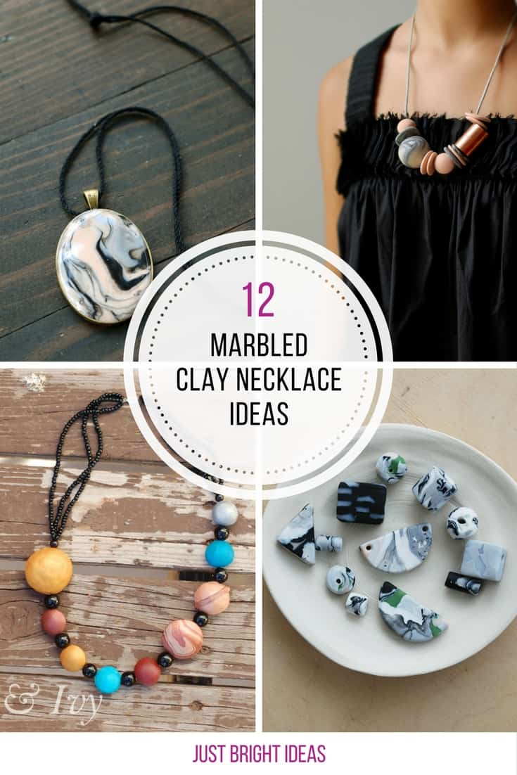 These marbled clay necklace ideas are GORGEOUS! Thanks for sharing!