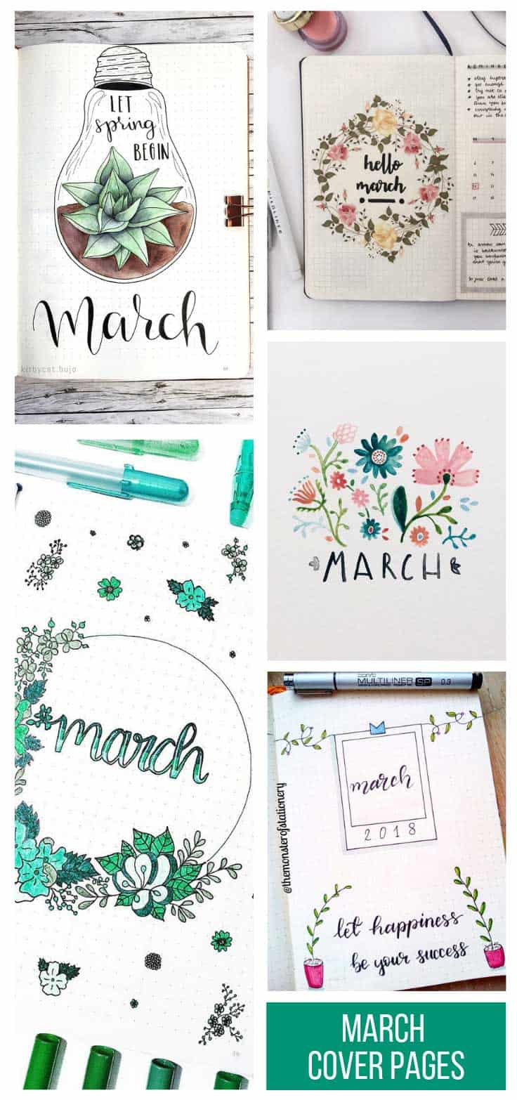 LOVE these March cover page ideas! Especially the light bulb!