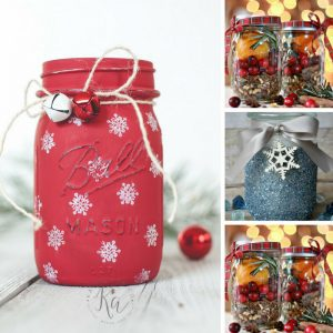 Loving these Christmas mason jar crafts - they're so festive! Thanks for sharing!