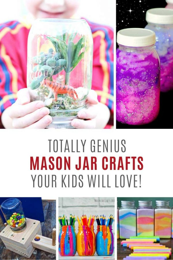 So many creative mason jar crafts for children