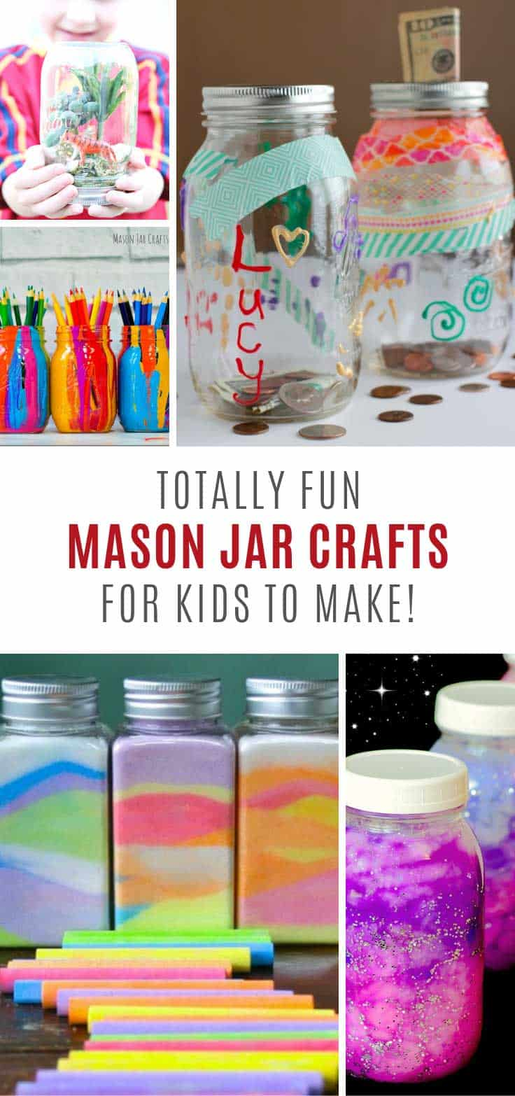 Loving these mason jar crafts for kids - so fun!