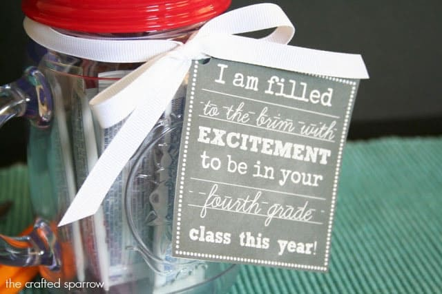 Mason Jar Cup with Chalkboard Tags