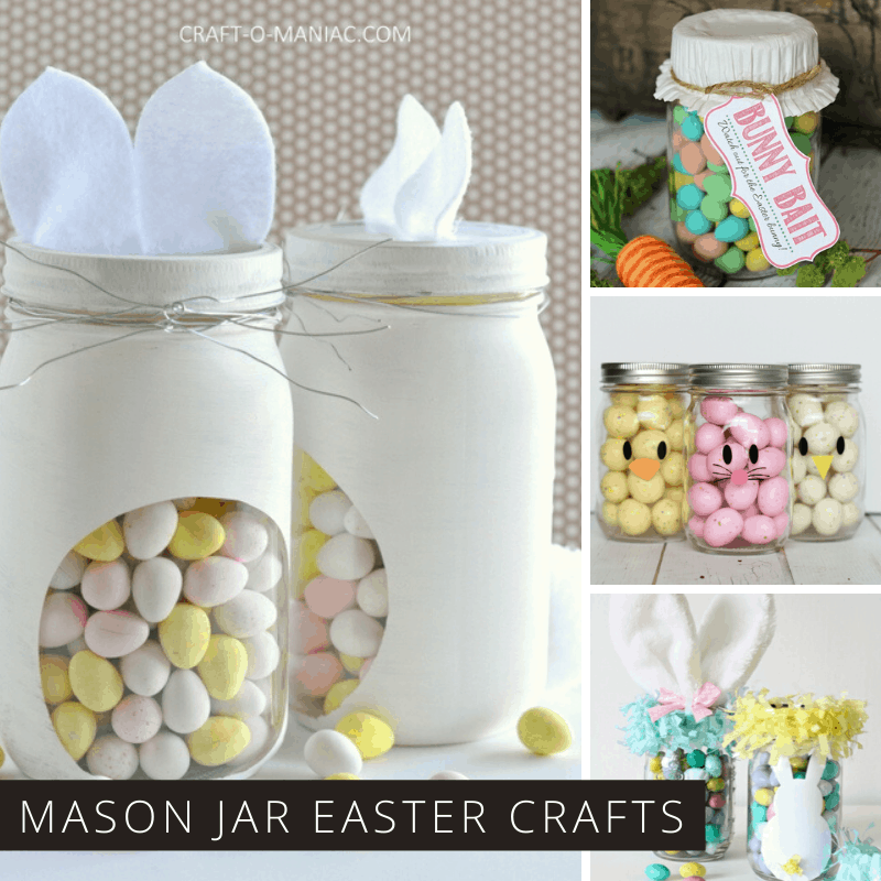 These easy Easter mason jar crafts make the cutest handmade treats for kids and grownups!