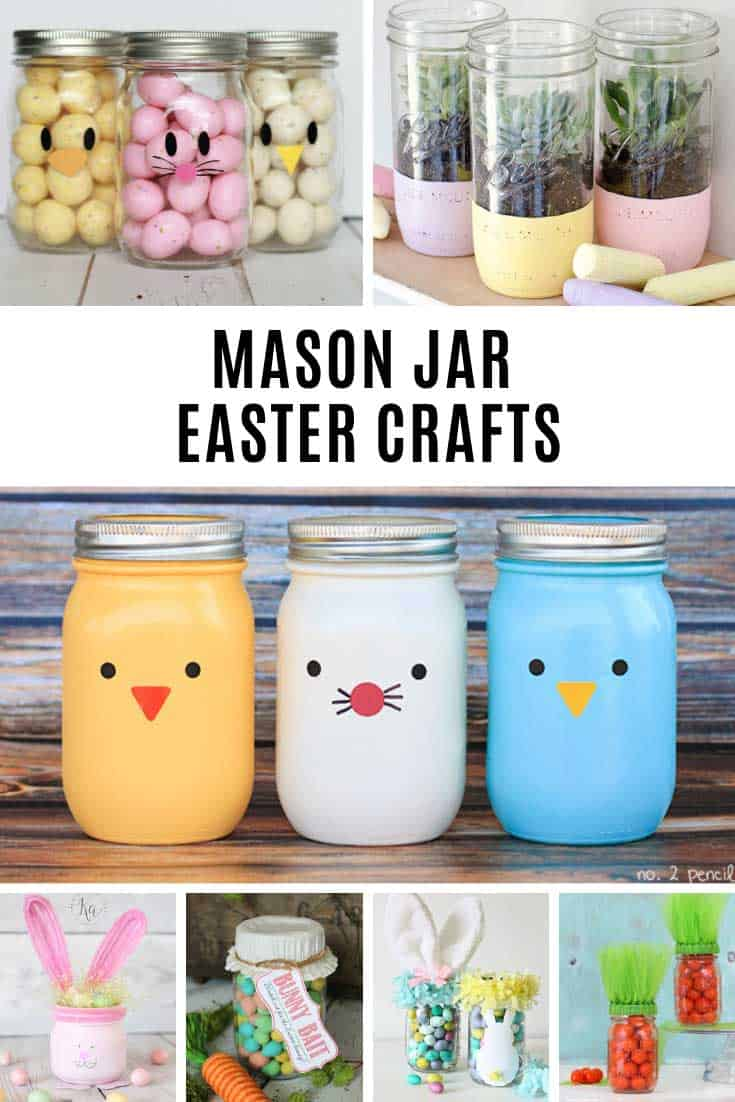 Loving these mason jar Easter crafts!