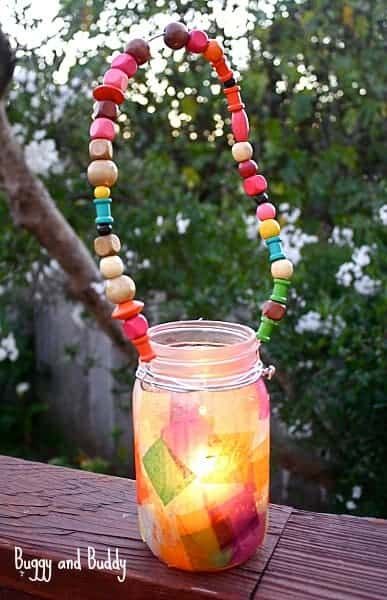 Mason Jar Lantern Craft for Kids