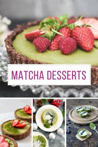 These Matcha green tea desserts look DELICIOUS! And they're healthy too!