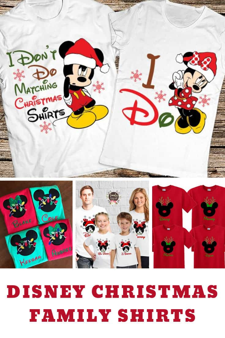 Matching Disney Shirts for Christmas Vacations