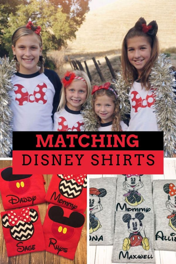 Matching Disney Shirts for Your Family Vacation