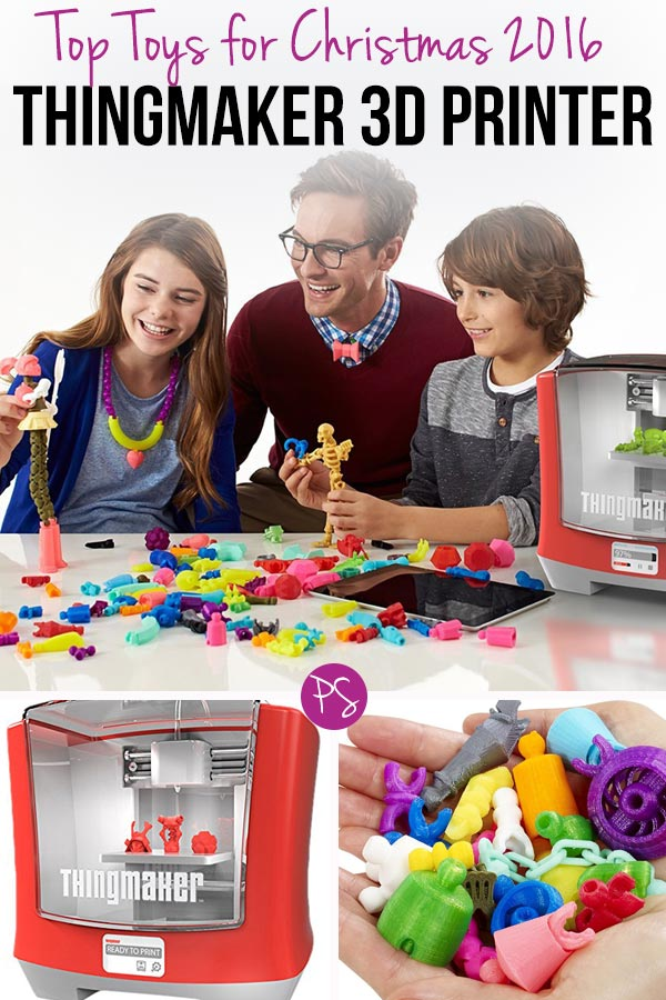 Wow! This 3D printer from Mattel will be one of the Top Toys for Christmas 2016. Your kids can print their own toys!