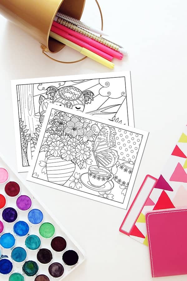 Download your free adult coloring pages with quotes for the month of May