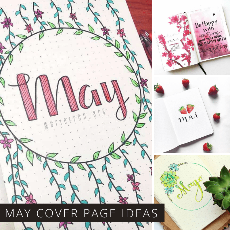 These May bullet journal cover pages are gorgeous! Just the inspiration you need to decide how to welcome May in your own BUJO.
