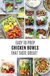 These meal prep chicken bowls taste GREAT!
