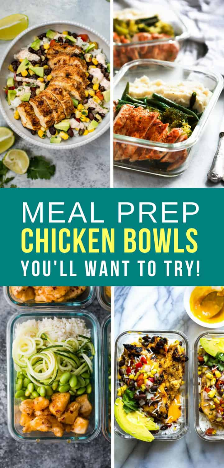 Meal Prep Chicken Bowls Lunch Dinner - Pinterest 5