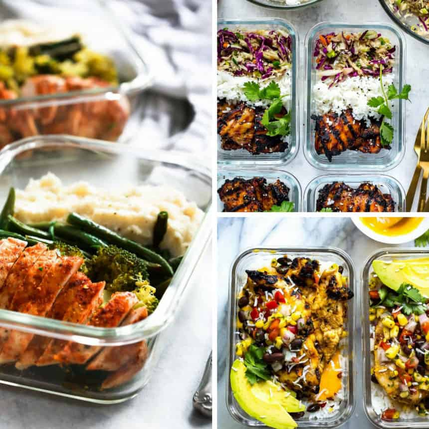 Meal Prep Chicken Bowls Lunch Dinner