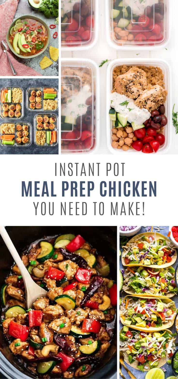 Who needs takeout when you can make these meal prep chicken instant pot recipes for lunch or dinner!