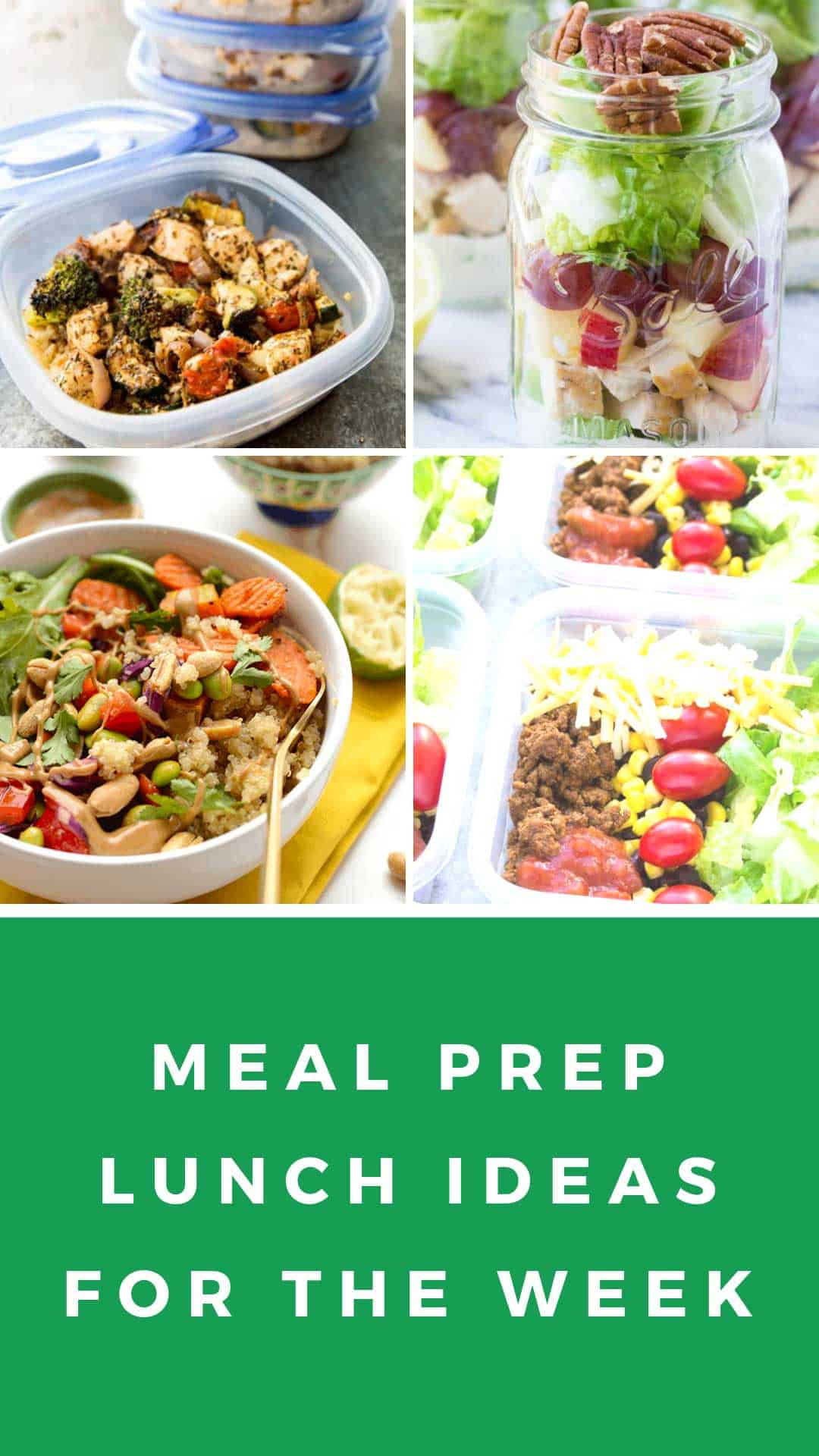 If you need meal prep ideas for lunch for the week we've got all the healthy recipes you could ever want! #mealprep
