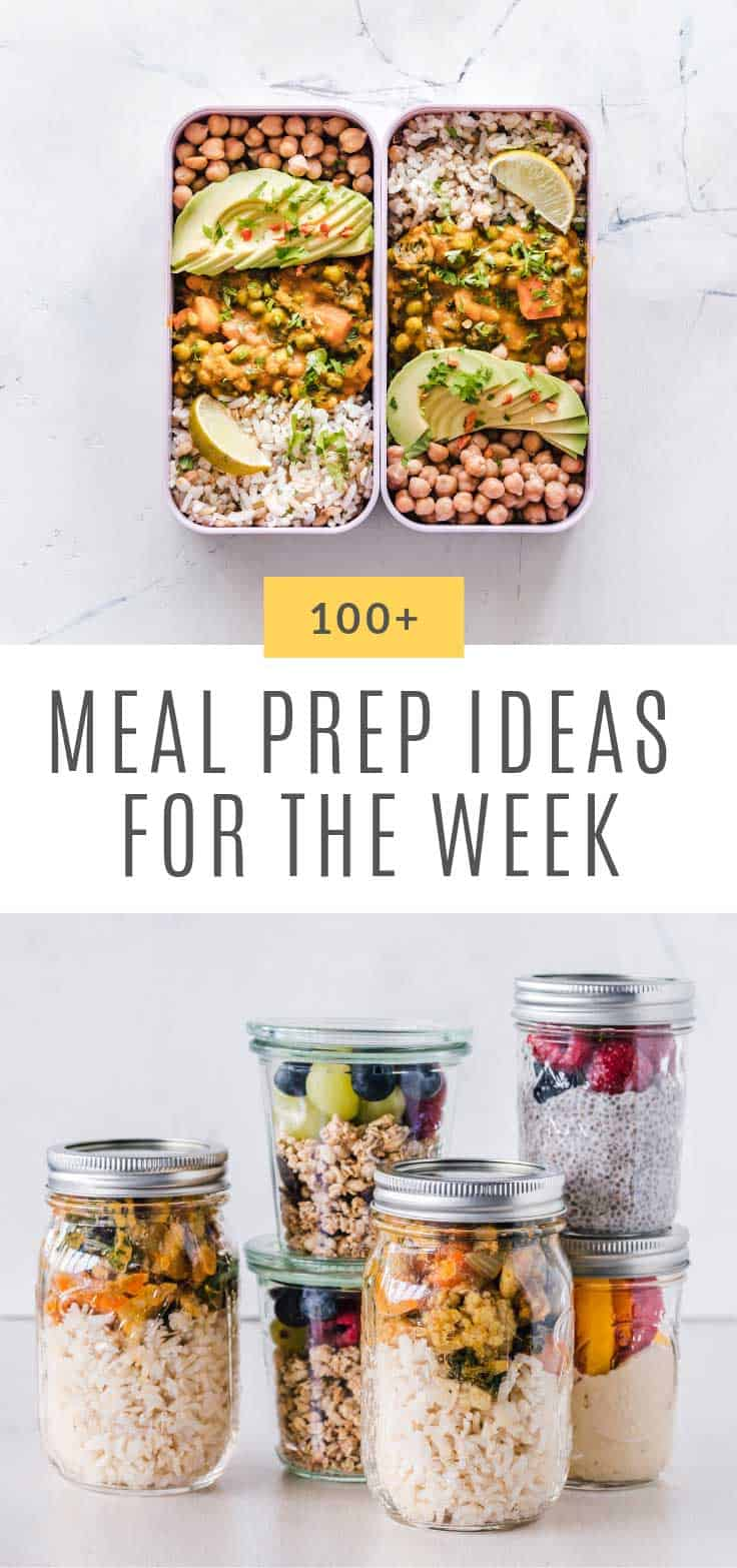 So many delicious and easy meal prep ideas for the week to try!