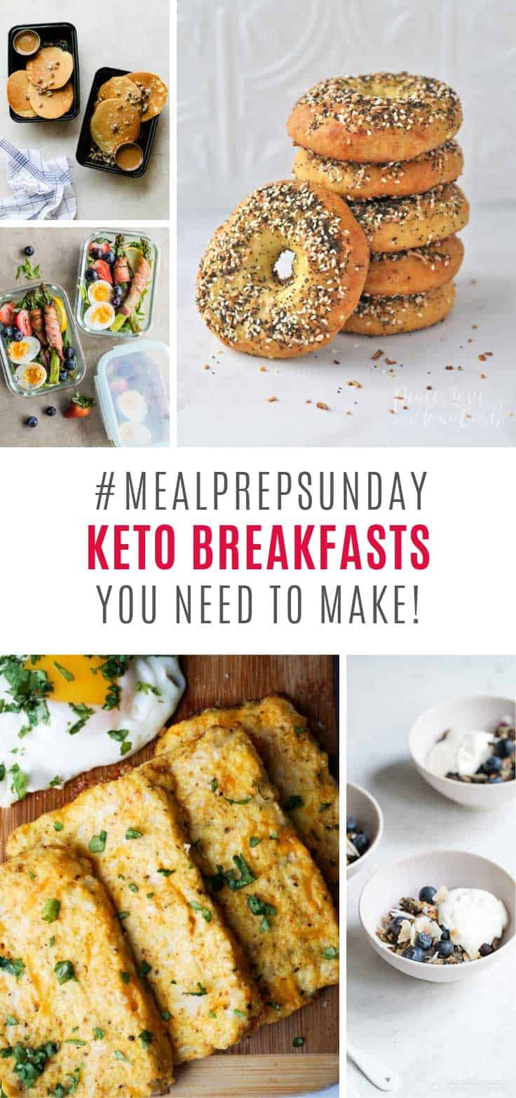 So many yummy meal prep keto breakfast ideas to make on Sunday!