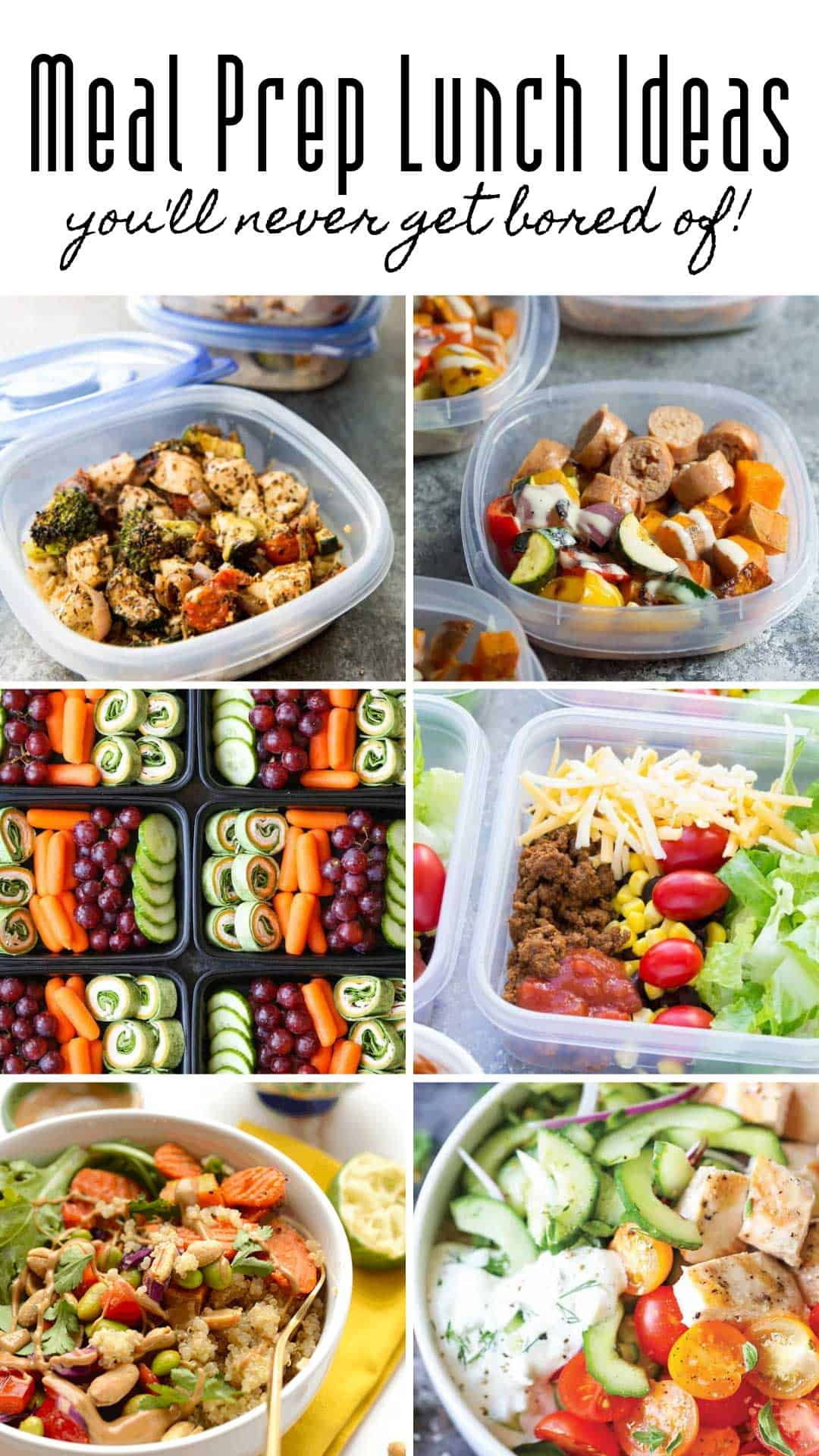 These healthy meal prep lunch ideas are just the recipes you need to eat well and save money. #mealprep