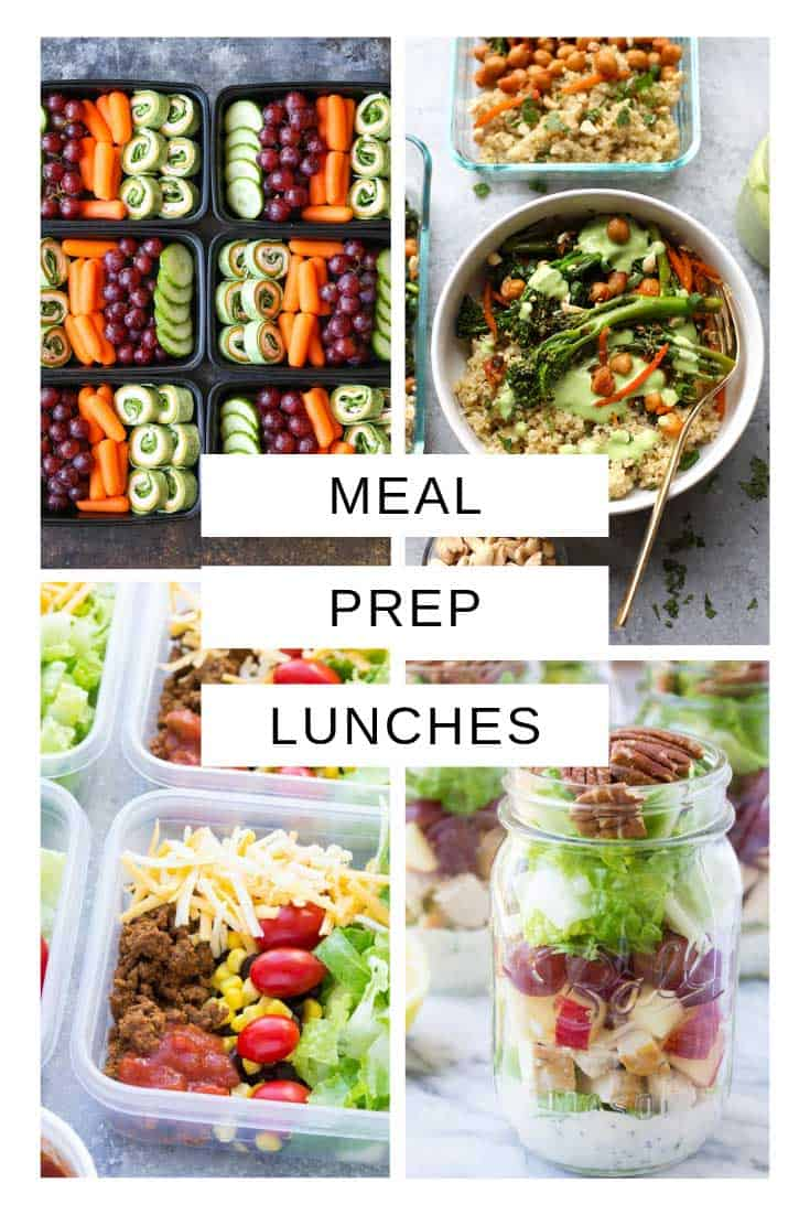 So many delicious meal prep lunch ideas you can prep on Sundays!