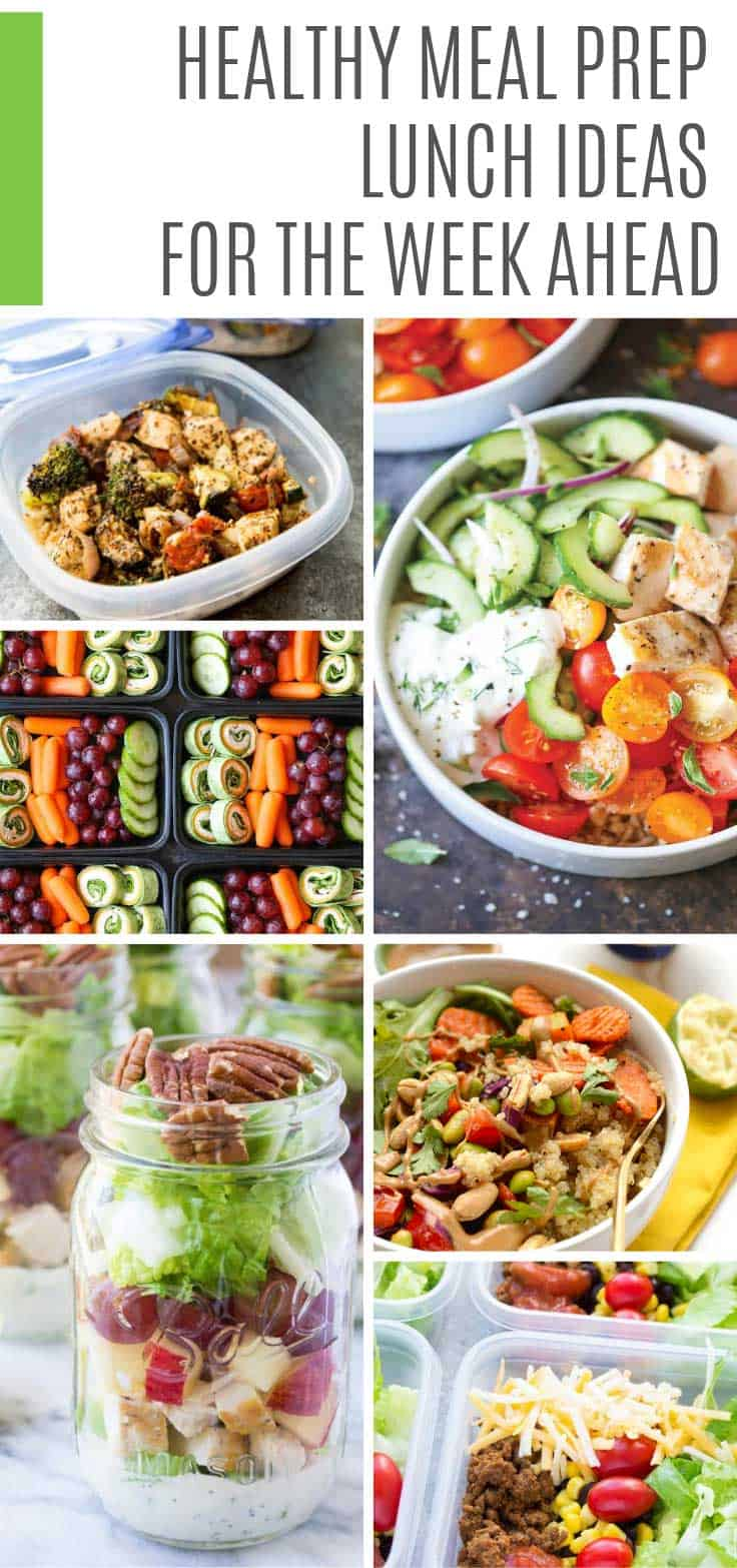 Looking for healthy meal prep lunch recipes for the week? There are so many delicious ideas here you will be spoilt for choice! #mealprep #lunch #mealplan
