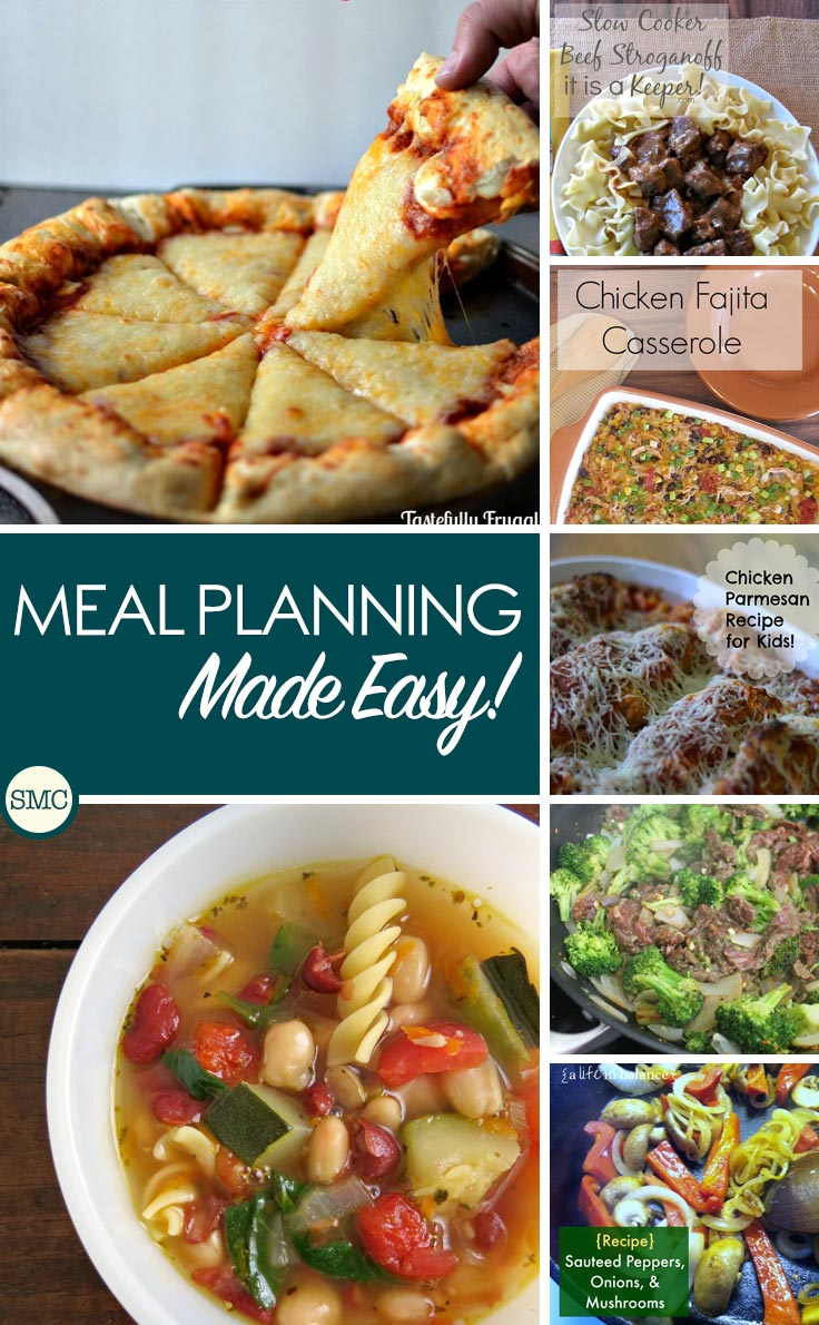 This ready made meal plan makes my life so much easier - love that we have 5 cheese stuffed crust pizza on the menu this week!