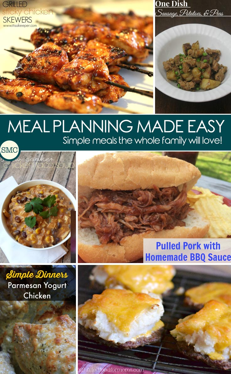 These meal planning ideas look yummy - especially those mashed potato burgers! Click on the image to see them.