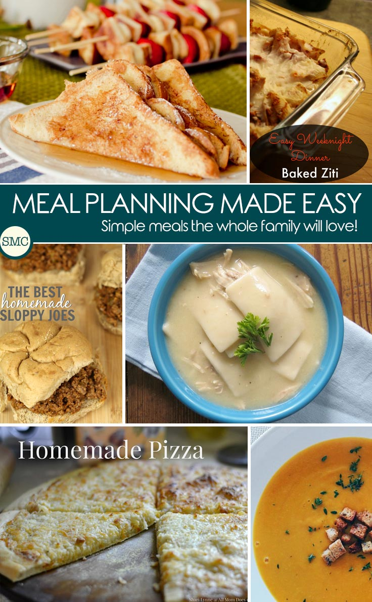 So many delicious recipes for this week's meal plan - the soups looks quick and easy and I love having breakfast for dinner! Click on the image to see the recipes.