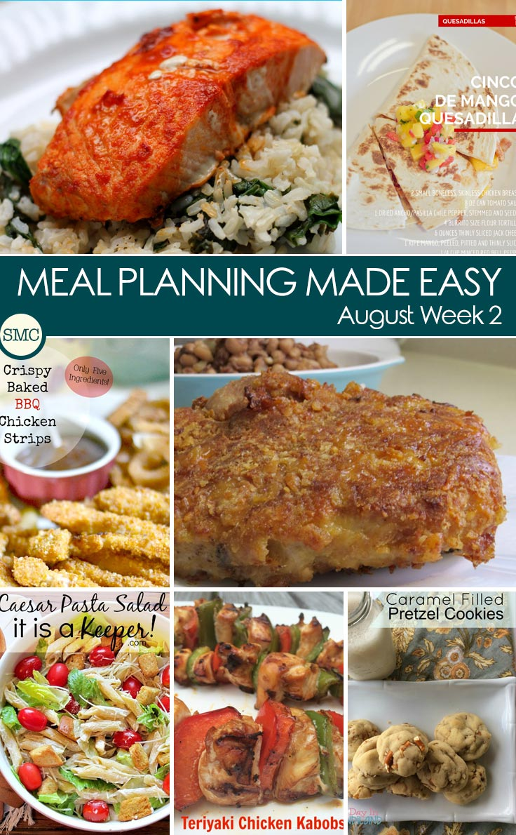 So many great recipes to make up this week's meal plan - click through to see them all
