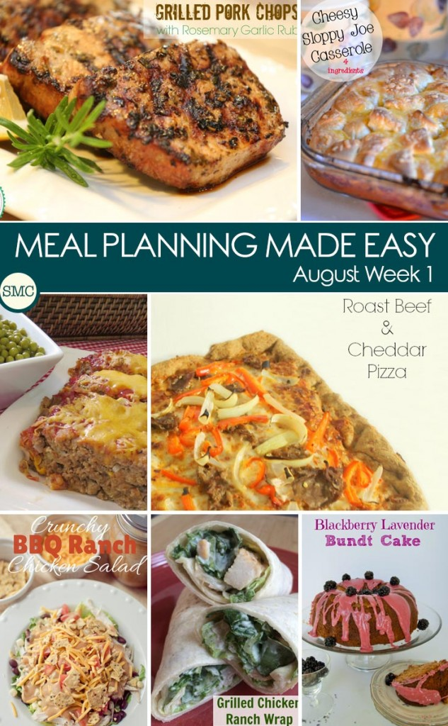 These recipes look delicious - and I love having a ready made meal plan!