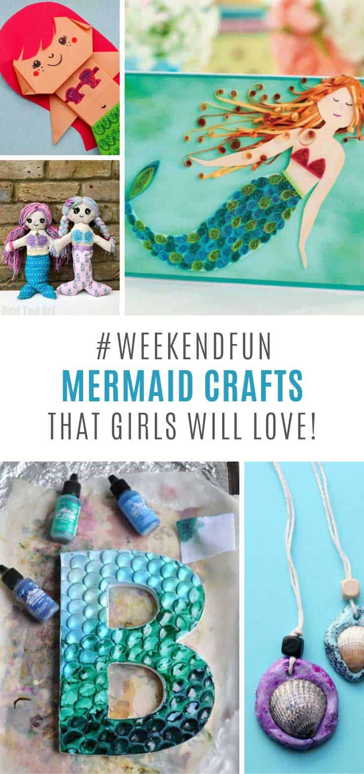 Loving these mermaid crafts for girls - and your daughter will too!