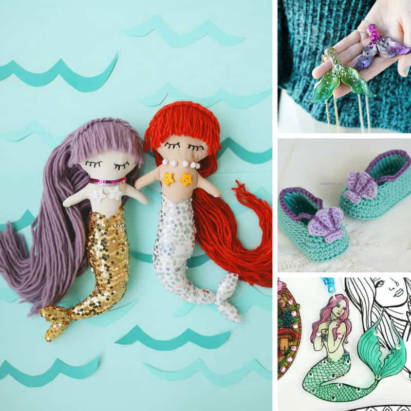 So many great mermaid crafts to DIY! Thanks for sharing!