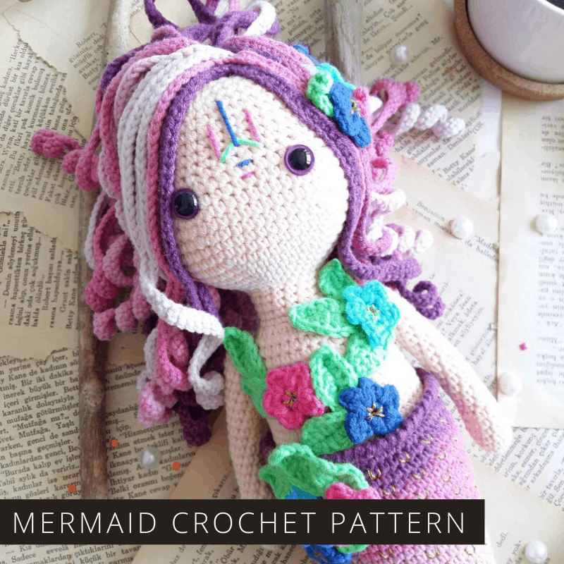 How sweet is this crochet mermaid doll! She'll be well loved and the pattern is easy to follow.