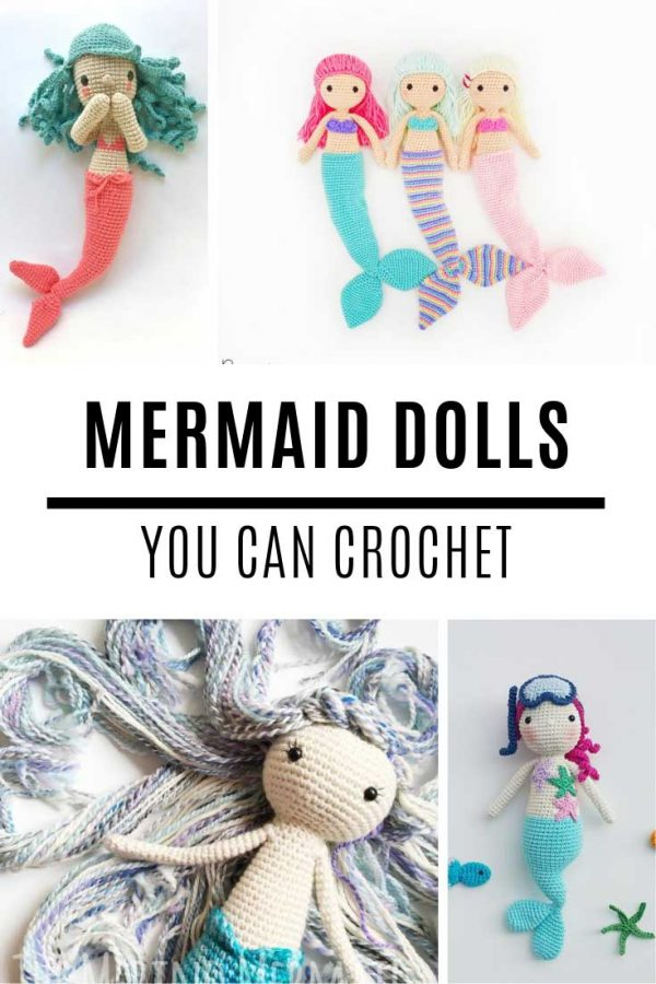 Oh these mermaid doll crochet patterns are just the sweetest!
