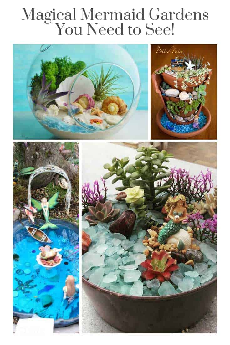 Oh my goodness! So many magical mermaid garden DIY ideas to try! The kids will LOVE this!