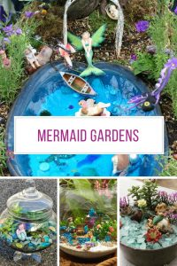 These mermaid gardens are BEAUTIFUL and a great change from a fairy garden!