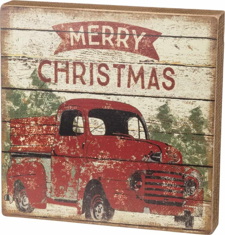 Merry Christmas Rustic Truck Sign
