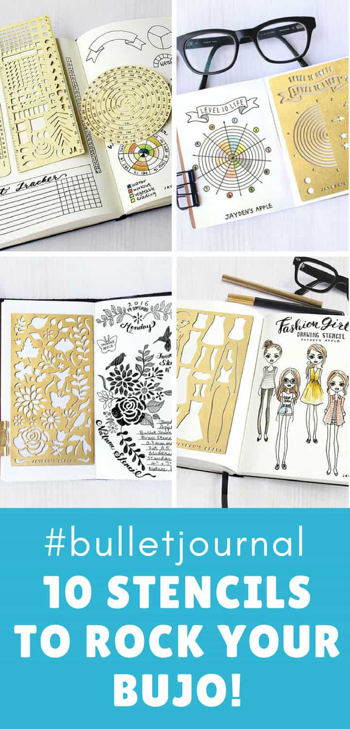 Metal Bullet Journal Stencils for Spreads and Layouts - Pinterest
