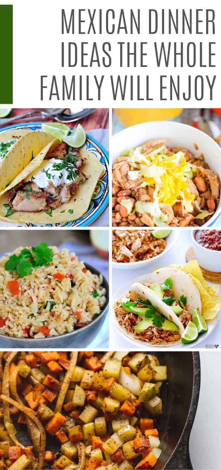 Mexican food is perfect for kid friendly family meals because everyone can get stuck in and enjoy the food together. Today we've pulled together 15 easy Mexican dinner ideas that you can make at home. #recipes #dinner #mexican #mealplan