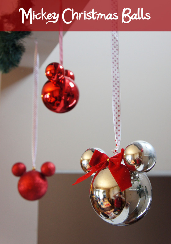 Mickey Mouse Christmas Baubles