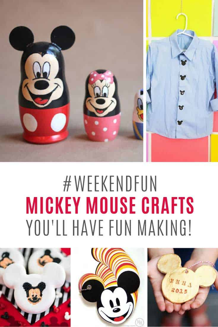 Loving these Mickey Mouse craft ideas for kids!