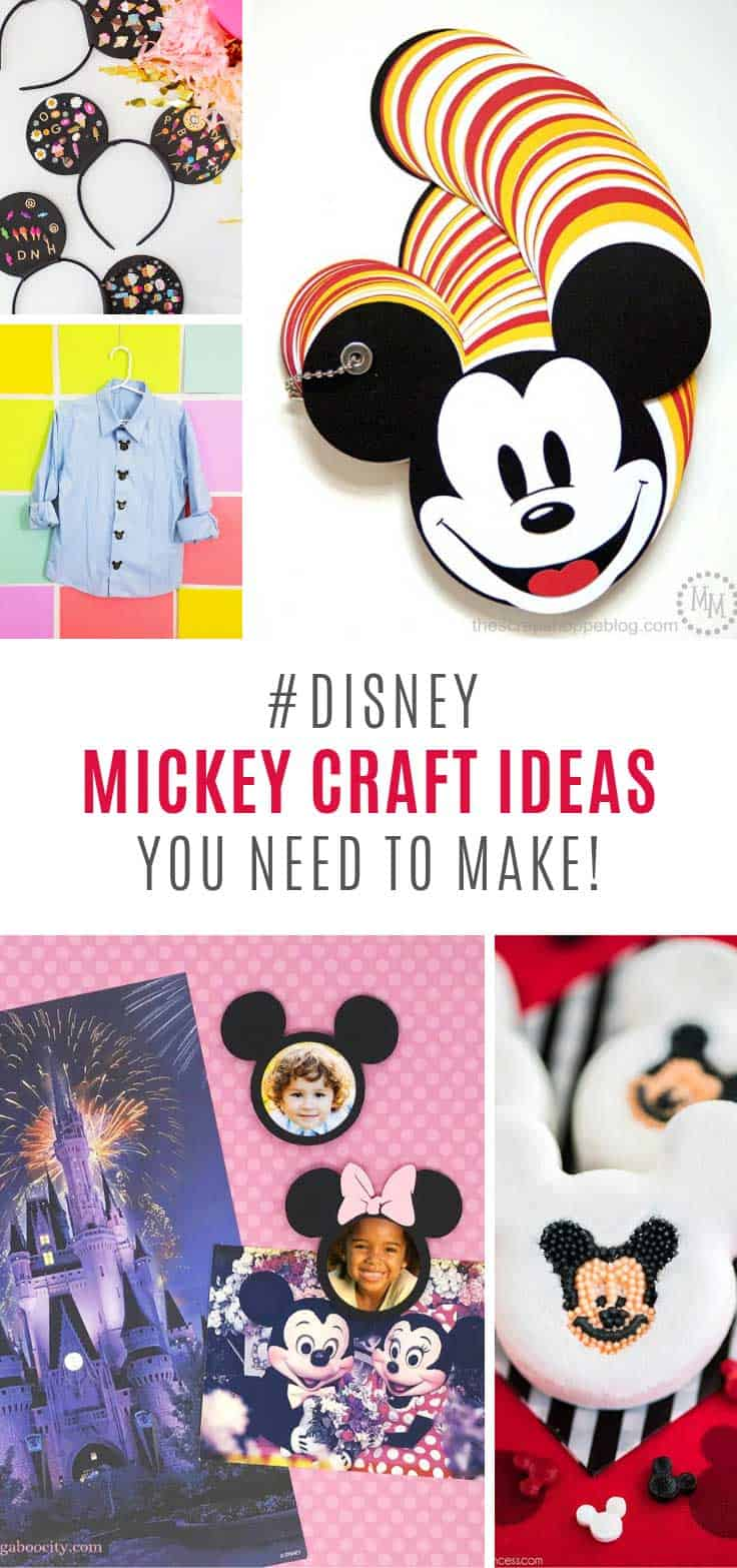 Countdown to your Disney World vacation with these Mickey Mouse craft ideas!