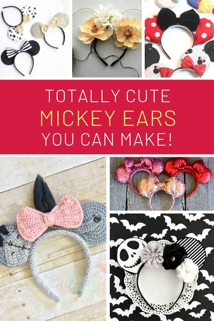 Loving these Mickey Mouse ears you can make at home for your trip!