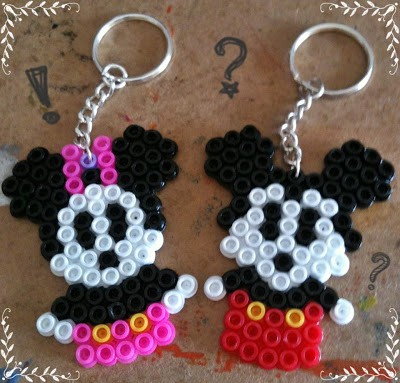 Mickey and Minnie Keychains