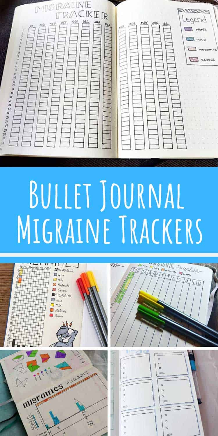 These migraine trackers are great additions to your bullet journal collections