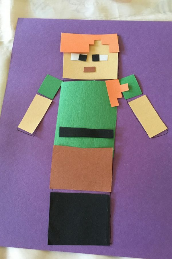 Minecraft Alex Craft Lay out the pieces