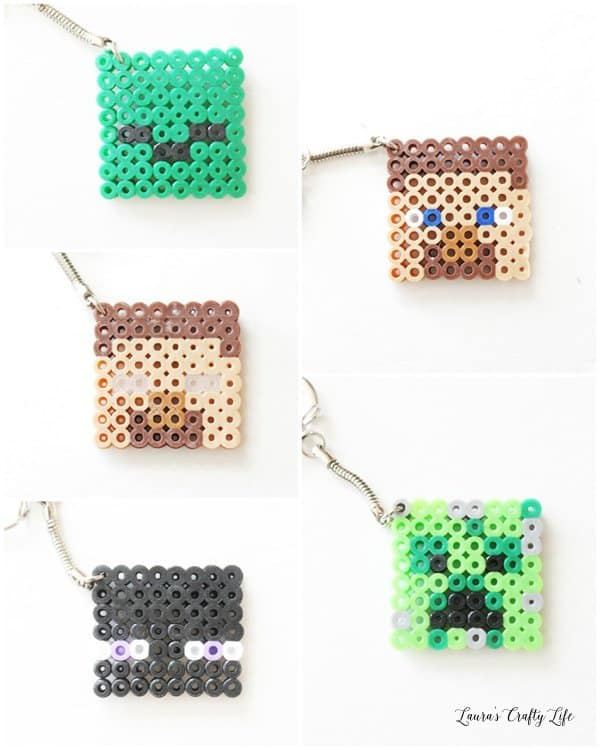 Minecraft Character Keychains