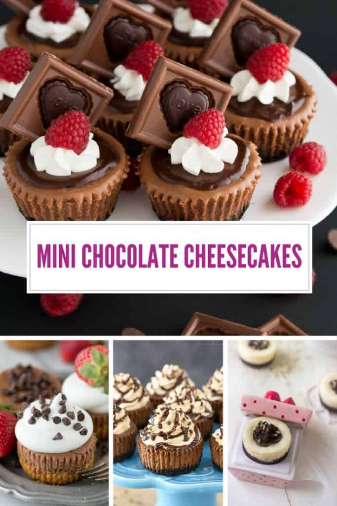 Oh my goodness would you just look at all that mini chocolate cheesecake yumminess!